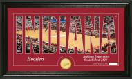 Indiana Hoosiers Basketball Silhouette Bronze Coin Panoramic Photo Mint