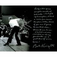 """Indiana Hoosiers Bob Knight Story (Throwing the Chair) Signed 16"""" x 20"""" Photo"""