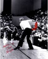 "Indiana Hoosiers Bob Knight Throwing Red Chair w/ ""Got the Ref"" Signed 16"" x 20"" Photo"