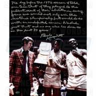 "Indiana Hoosiers Bob Knight w/ Trophy Story Signed 16"" x 20"" Photo"