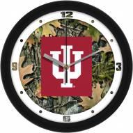Indiana Hoosiers Camo Wall Clock