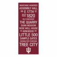 Indiana Hoosiers Canvas Color Subway Art