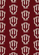 Indiana Hoosiers College Repeat Area Rug