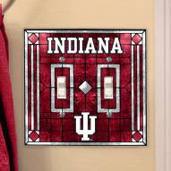 Indiana Hoosiers Glass Double Switch Plate Cover