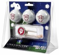 Indiana Hoosiers Golf Ball Gift Pack with Cap Tool