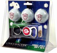Indiana Hoosiers Golf Ball Gift Pack with Key Chain