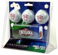 Indiana Hoosiers Golf Ball Gift Pack with Slider Clip