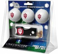 Indiana Hoosiers Golf Ball Gift Pack with Spring Action Divot Tool