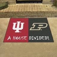 Indiana Hoosiers/Purdue Boilermakers House Divided Mat