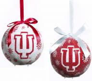 Indiana Hoosiers LED Boxed Ornament Set
