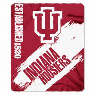 Indiana Hoosiers Painted Fleece Blanket