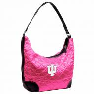 Indiana Hoosiers Pink NCAA Quilted Hobo Handbag