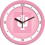 Indiana Hoosiers Pink Wall Clock