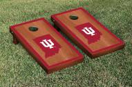 Indiana Hoosiers Rosewood Stained Border Cornhole Game Set