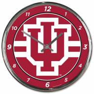 Indiana Hoosiers Round Chrome Wall Clock