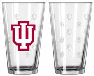 Indiana Hoosiers Satin Etch Pint Glass - Set of 2