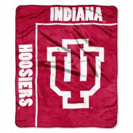 Indiana Hoosiers School Spirit Raschel Throw Blanket