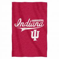 Indiana Hoosiers Script Sweatshirt Throw Blanket