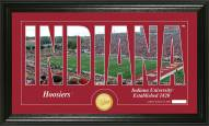 Indiana Hoosiers Silhouette Bronze Coin Panoramic Photo Mint