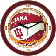 Indiana Hoosiers Slam Dunk Wall Clock