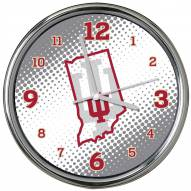 Indiana Hoosiers State of Mind Chrome Clock