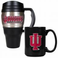 Indiana Hoosiers Travel Mug & Coffee Mug Set