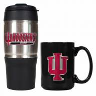 Indiana Hoosiers Travel Tumbler & Coffee Mug Set