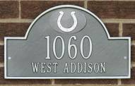 Indianapolis Colts NFL Personalized Address Plaque - Pewter Silver