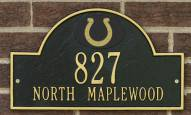 Indianapolis Colts NFL Personalized Address Plaque - Black Gold