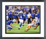 Indianapolis Colts Adam Vinatieri 2014 Playoff Action Framed Photo