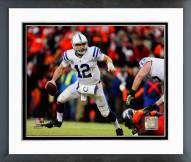 Indianapolis Colts Andrew Luck 2014 Playoff Action Framed Photo