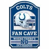 Indianapolis Colts Fan Cave Wood Sign