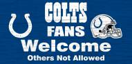 Indianapolis Colts Fans Welcome Wood Sign