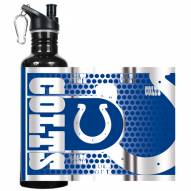 Indianapolis Colts Hi-Def Black Stainless Steel Water Bottle