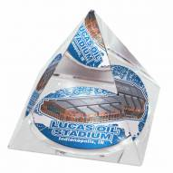 Indianapolis Colts Lucas Oil Field Crystal Pyramid