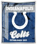 Indianapolis Colts Old School Mink Sherpa Throw Blanket