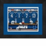 Indianapolis Colts Personalized Locker Room 13 x 16 Framed Photograph