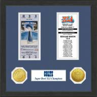 Indianapolis Colts Super Bowl Ticket Collection Framed
