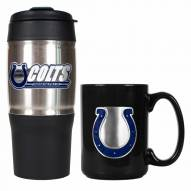 Indianapolis Colts Travel Tumbler & Coffee Mug Set