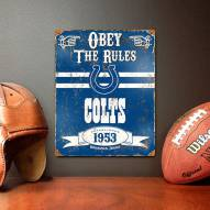 Indianapolis Colts Vintage Metal Sign
