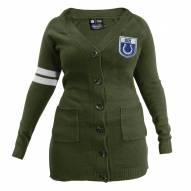 Indianapolis Colts Women's Olive Varsity Cardigan