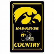 "Iowa Hawkeyes 12"" x 18"" Metal Sign"