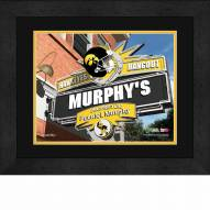 Iowa Hawkeyes 13 x 16 Personalized Framed Sports Pub Print