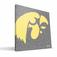 "Iowa Hawkeyes 16"""" x 16"""" Typo Canvas Print"
