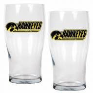 Iowa Hawkeyes 20 oz. Pub Glass - Set of 2