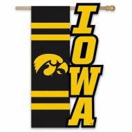 "Iowa Hawkeyes 28"" x 44"" Applique Flag"