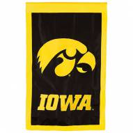 "Iowa Hawkeyes 28"" x 44"" Double Sided Applique Flag"