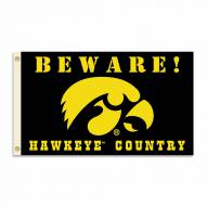 Iowa Hawkeyes 3' x 5' Beware Flag