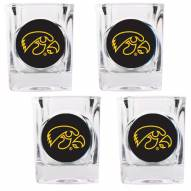 Iowa Hawkeyes 4 Piece Square Shot Glasses