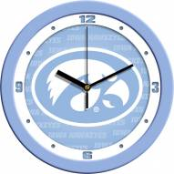 Iowa Hawkeyes Baby Blue Wall Clock
